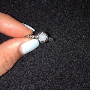 Birthday Bloom Ring, March, Aquamarine